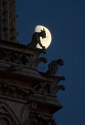 Photograph - Gargoyle Night Watch by Matthew Green