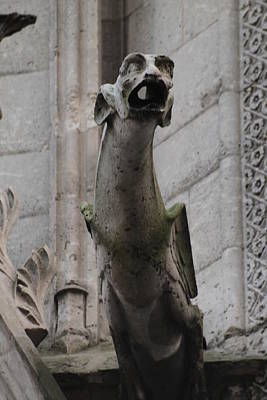 Photograph - Gargoyle Notre Dame by Christopher Kirby