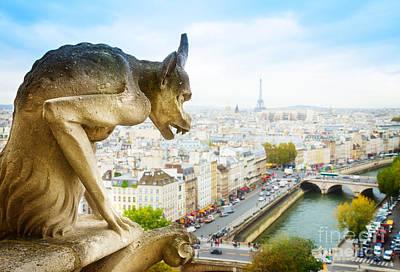 Paris Skyline Royalty-Free and Rights-Managed Images - Gargoyle of  Paris by Anastasy Yarmolovich