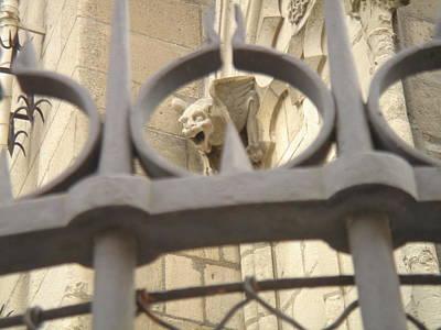 Gargoyle On Notre Dame Art Print by John Julio