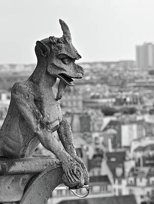 Photograph - Gargoyle Over Paris by Matt MacMillan