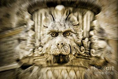 Gargoyle Type Face Art Print by Timothy Hacker