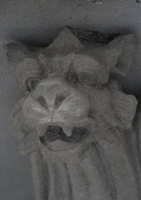 Photograph - Gargoyle With Fangs by Christopher Kirby