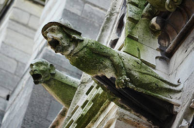 European Photograph - Gargoyles Of Notre Dame Cathedral Paris France by Shawn O'Brien