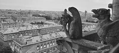 Photograph - Gargoyles Of Notre Dame by Matt MacMillan