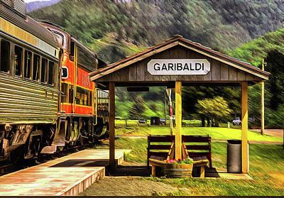 Photograph - Garibaldi Oregon Train Depot by Thom Zehrfeld