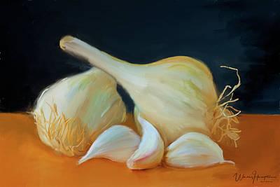 Painting - Garlic 01 by Wally Hampton