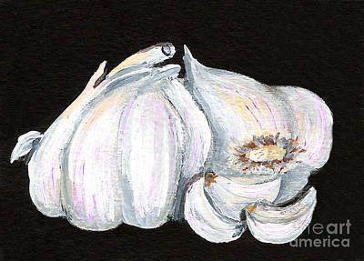 Painting - Garlic 1 by Elaine Hodges