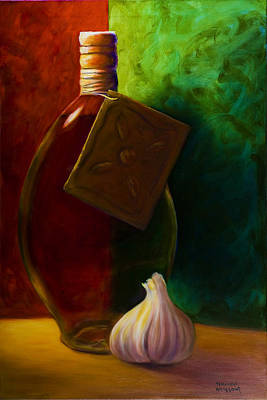 Garlic And Oil Art Print