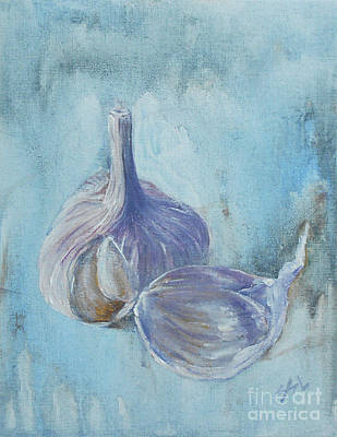 Painting - Garlic by Jane See