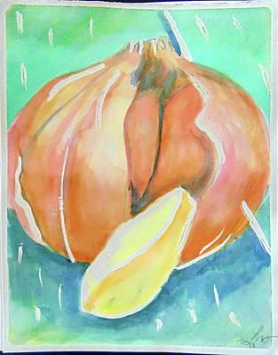 Painting - Garlic by Loretta Nash