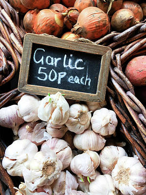 Photograph - Garlic Sale by Tom Gowanlock
