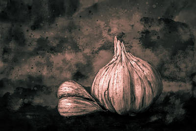 Photograph - Garlic Still Life Toned by Michael Arend