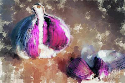Digital Art - Garlics by Hernan Bua