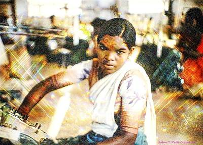 Photograph - Garment Factory Worker India by John Potts