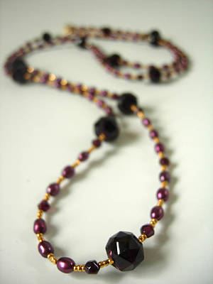 Adove Jewelry - Garnet And Freshwater Pearl Goddess Necklace by Adove  Fine Jewelry