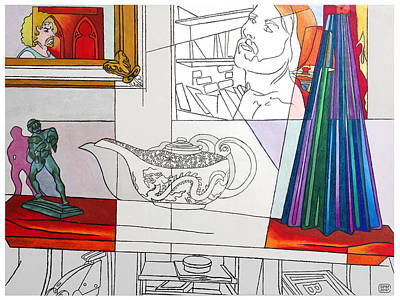 Drawing - Garrabrant's Secretary by Stan  Magnan