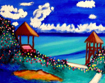Painting - Garrafon Isla Mujeres by Ted Hebbler