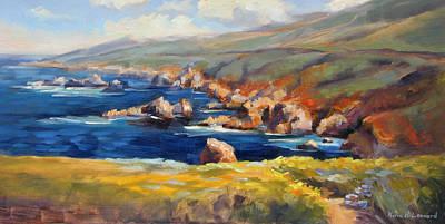 Big Sur Painting - Garrapata Spring by Karin  Leonard