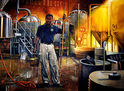 Factory Work Painting - Garrett by Gregg Hinlicky