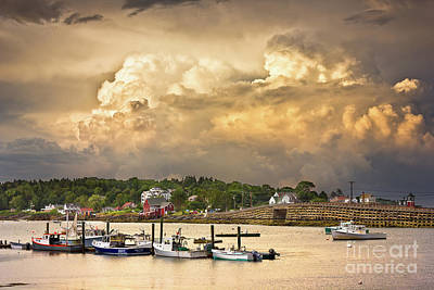 Photograph - Garrison Cove Thunderstorm by Benjamin Williamson
