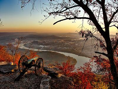 Chattanooga Tennessee Photograph - Garrity's Battery Overlooking Chattanooga by Nps