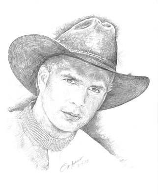 Garth Brooks Drawing - Garth Brooks by Jan Andrews