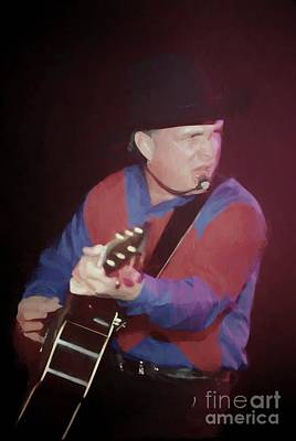 Photograph - Garth Brooks Oil Painting Enlargements by Concert Photos
