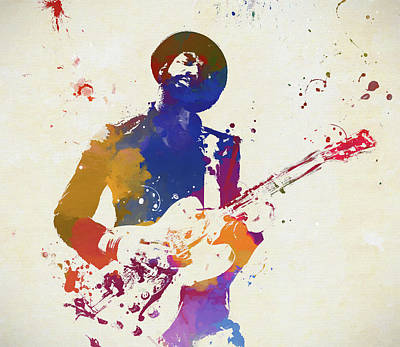 Music Paintings - Gary Clark Jr by Dan Sproul