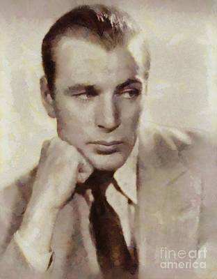 Gary Cooper, Hollywood Actor Art Print