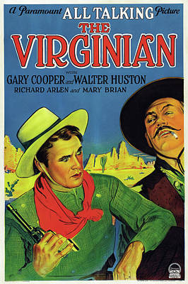 Gary Cooper In The Virginian 1929 Art Print by Mountain Dreams