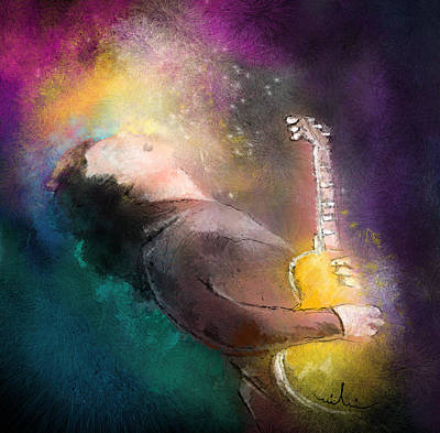 Music Paintings - Gary Moore 01 by Miki De Goodaboom