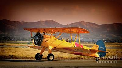 Photograph - Gary Peters Boeing Stearman Kaydet 2016 Planes Of Fame Version 2 by Gus McCrea