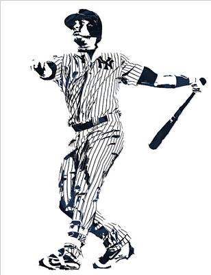 New York Yankees Mixed Media - Gary Sanchez New York Yankees Pixel Art 1 by Joe Hamilton