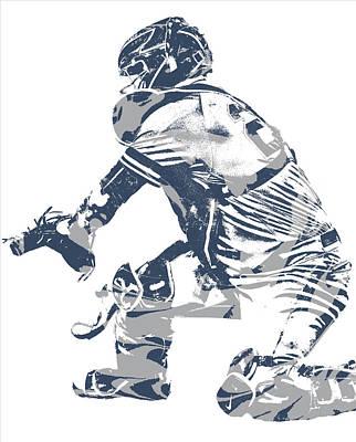 New York Yankees Mixed Media - Gary Sanchez New York Yankees Pixel Art 10 by Joe Hamilton