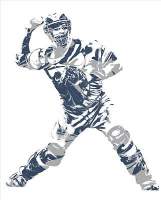 New York Yankees Mixed Media - Gary Sanchez New York Yankees Pixel Art 11 by Joe Hamilton