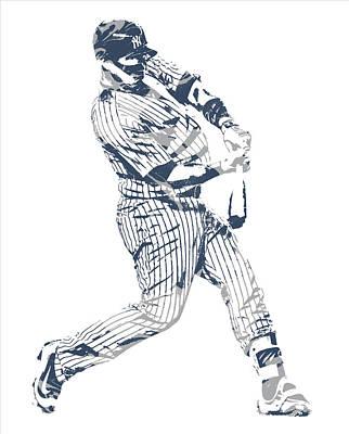 New York Yankees Mixed Media - Gary Sanchez New York Yankees Pixel Art 12 by Joe Hamilton