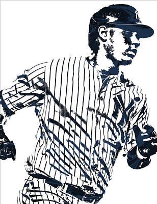New York Yankees Mixed Media - Gary Sanchez New York Yankees Pixel Art 2 by Joe Hamilton