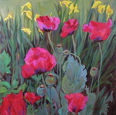 Painting - Gary's Poppies by Nita Burge