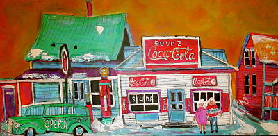 St. Agathe Painting - Gas And Coke St. Agathe Memories by Michael Litvack