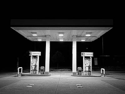 Photograph - Gas At Night by John Rossman