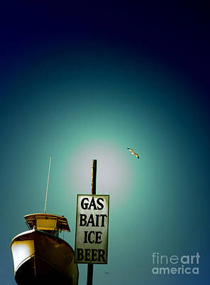 Manipulation Photograph - Gas Bait Ice Beer by Steven Digman