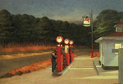 Digital Art - Gas  by Edward Hopper