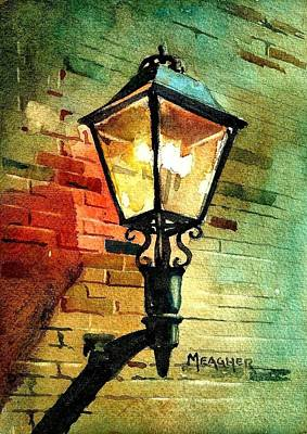 Gas Lamp Painting - Gas Lamp by Spencer Meagher