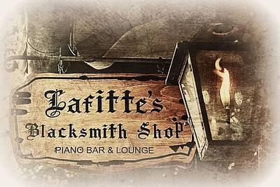 Gas Lamp Photograph - Gas Light At Lafitte's Blacksmith Shop by Toni Abdnour