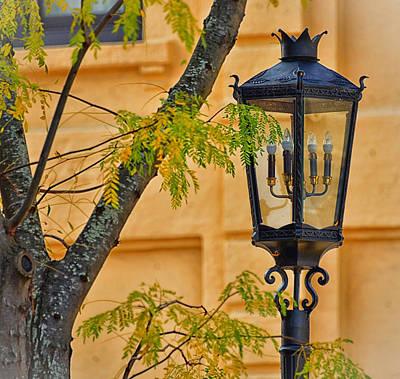 Photograph - Gas Lights In Wellsboro, Pa by Bernadette Chiaramonte