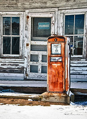Dan Beauvais Royalty-Free and Rights-Managed Images - Gas Pump 7153 by Dan Beauvais