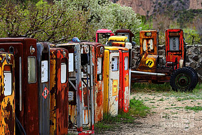 Celebrity Pop Art Potraits - Gas Pump Conga Line in New Mexico by Catherine Sherman