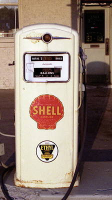 Gas Pump Art Print by Michael Peychich