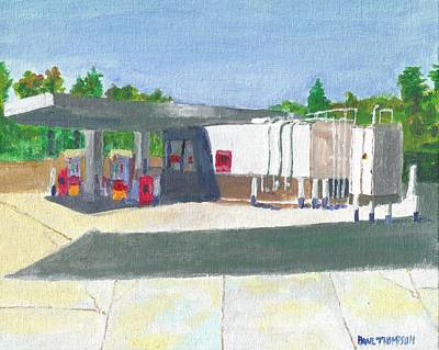 Painting - Gas Station In Napa by Paul Thompson